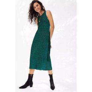 Maeve Adrienne Twist-Back Velvet Midi Dress, S
